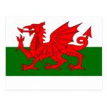 bandera galés postal