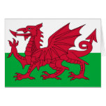 Bandera Galés Tarjeton