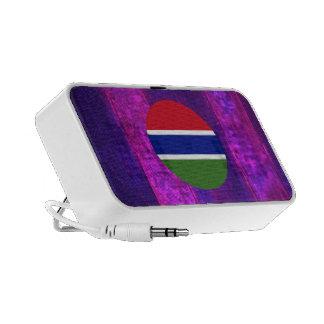 Bandera gambiana auténtica altavoz de viajar