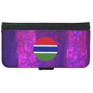 Bandera gambiana auténtica carcasa de iPhone 6