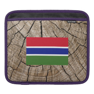 Bandera gambiana en corteza de árbol funda para iPads