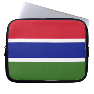 Bandera gambiana funda computadora