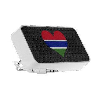 Bandera gambiana moderna sistema de altavoz