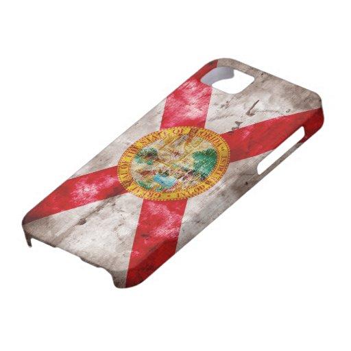 Bandera gastada de la Florida Funda Para iPhone 5 Barely There