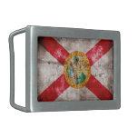 Bandera gastada de la Florida Hebilla De Cinturón