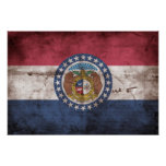 Bandera gastada de Missouri; Poster