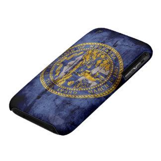 Bandera gastada de Nebraska; Case-Mate iPhone 3 Fundas