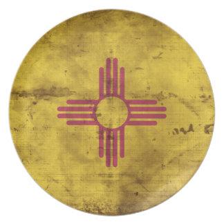 Bandera gastada de New México; Platos De Comidas