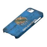 Bandera gastada de Oklahoma; iPhone 5 Case-Mate Carcasa