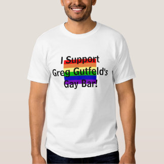 ¡bandera gay, apoyo el bar gay de Greg Gutfeld! Remeras