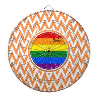 Bandera gay; Chevron anaranjado y blanco Tabla Dardos
