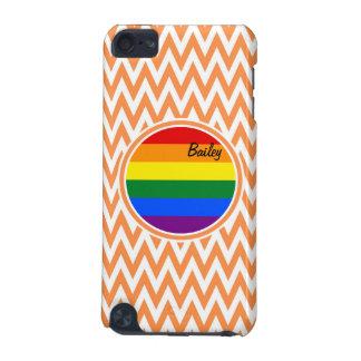 Bandera gay; Chevron anaranjado y blanco Funda Para iPod Touch 5G