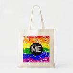 Bandera gay del arco iris llevada esta manera bolsa tela barata