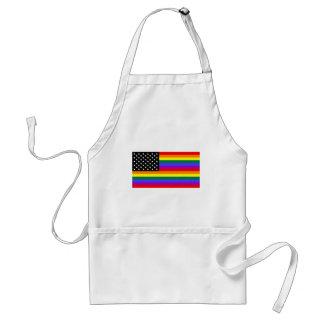 Bandera gay del orgullo de América Delantal