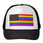 Bandera gay del orgullo de América Gorros