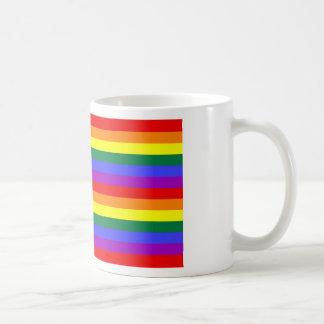 Bandera gay del orgullo de América Taza