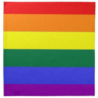 Bandera gay del orgullo del arco iris de la servilletas imprimidas