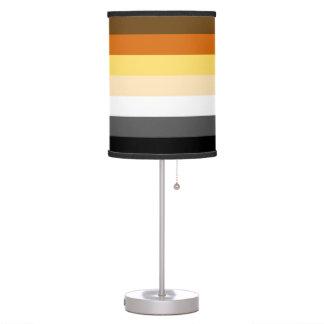 Bandera gay del orgullo del oso de los colores del lámpara de escritorio