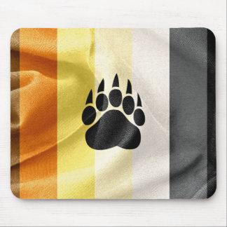 Bandera gay del orgullo del oso y cojín de ratón alfombrillas de ratón