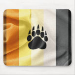 Bandera gay del orgullo del oso y cojín de ratón alfombrilla de raton