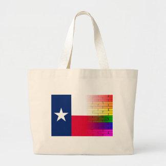 Bandera gay del Texan de la pared del arco iris Bolsa Tela Grande