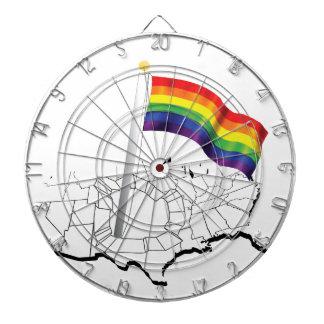 Bandera gay tablero de dardos