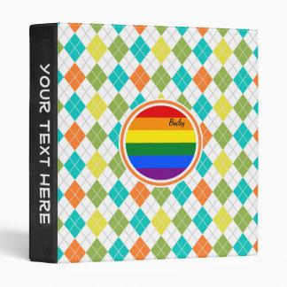 Bandera gay en el modelo colorido de Argyle