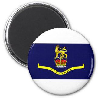 Bandera general del gobernador de Barbados Imán Redondo 5 Cm