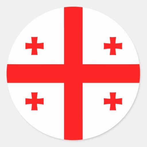 Bandera georgiana de Georgia Pegatina
