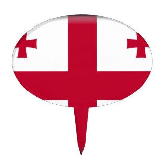 Bandera georgiana de la república figura para tarta