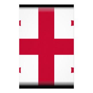 Bandera georgiana de la república papelería personalizada