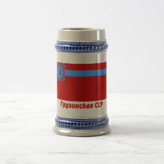 Bandera georgiana de SSR con nombre Jarra De Cerveza