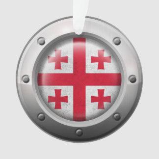 Bandera georgiana industrial con el gráfico de ace