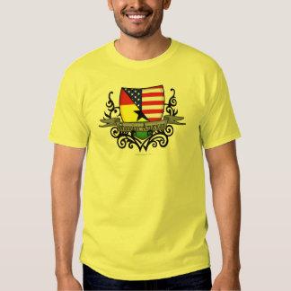 Bandera Ghanés-Americana del escudo Camisas