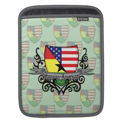 Bandera Ghanés-Americana del escudo Fundas Para iPads