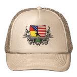 Bandera Ghanés-Americana del escudo Gorra