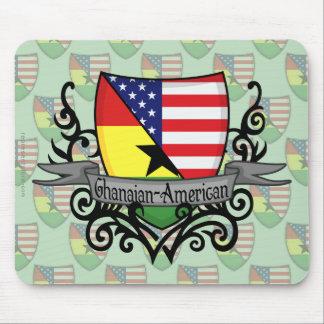 Bandera Ghanés-Americana del escudo Tapete De Raton