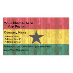 Bandera ghanesa de madera tarjetas de visita
