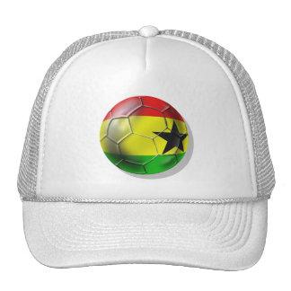Bandera ghanesa del balón de fútbol de Ghana para  Gorro De Camionero