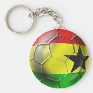Bandera ghanesa del balón de fútbol de Ghana para  Llavero Redondo Tipo Pin