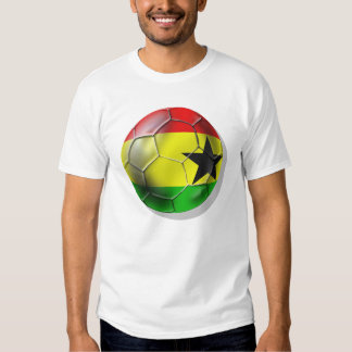 Bandera ghanesa del balón de fútbol de Ghana para Playeras