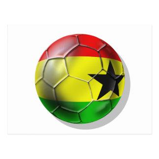 Bandera ghanesa del balón de fútbol de Ghana para  Tarjeta Postal