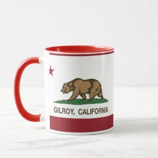 Bandera Gilroy del estado de California Taza