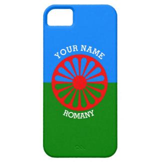 Bandera gitana personalizada de los viajeros del iPhone 5 protectores