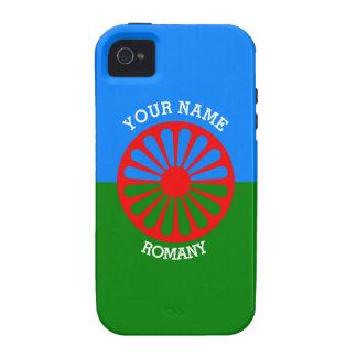 Bandera gitana personalizada de los viajeros del iPhone 4/4S carcasa