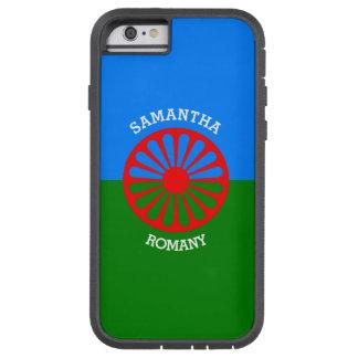Bandera gitana personalizada de los viajeros del funda de iPhone 6 tough xtreme