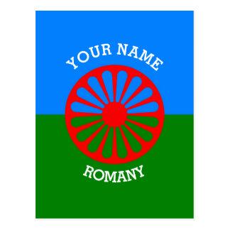 Bandera gitana personalizada de los viajeros del postales