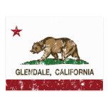 Bandera Glendale del estado de California Postales
