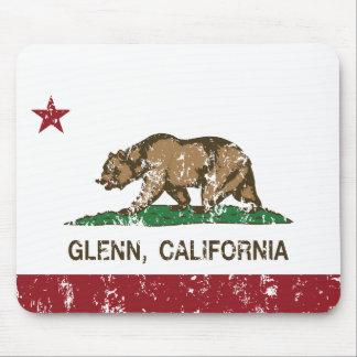 Bandera Glenn de la república de California Alfombrilla De Ratones