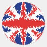 Bandera Gnarly BRITÁNICA Pegatina Redonda